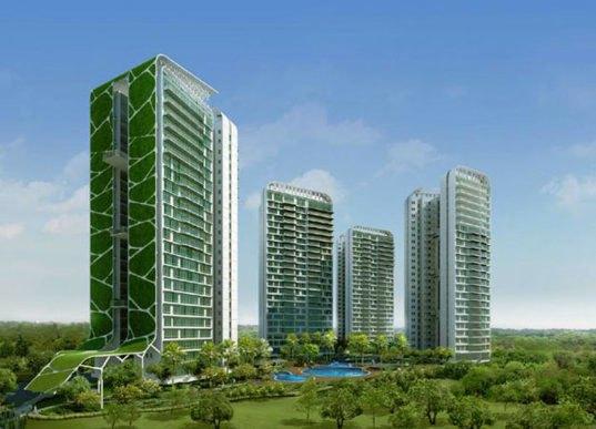 vertical garden skyscraper World's Largest Vertical Garden at the Singapore Tree