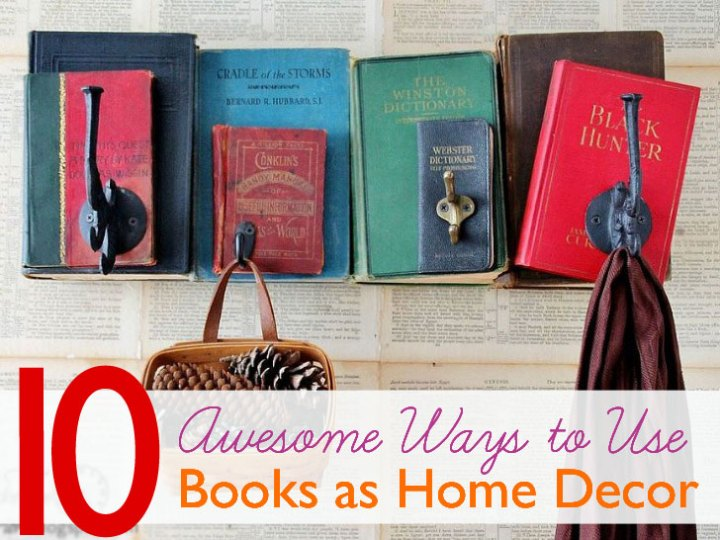 Decorating Ideas With Old Books