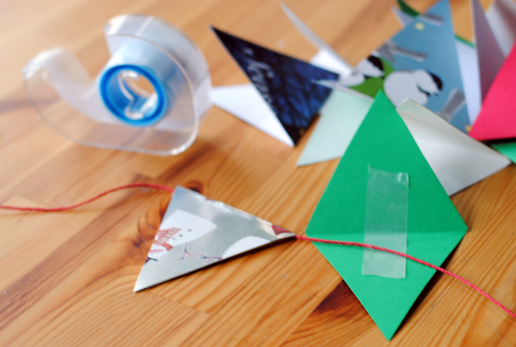 DIY Recycle Last Years Christmas Cards Into A Colorful