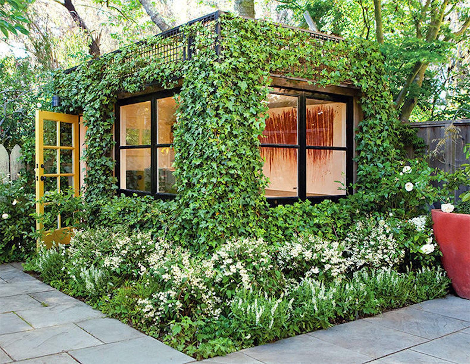 This Lush Green Backyard Office Is A Dream Artist S