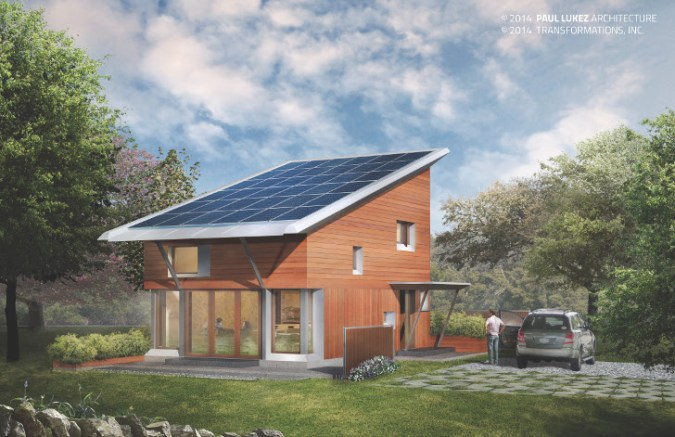 Paul Lukez Architecture to build a small  energy plus home outside     Architecture