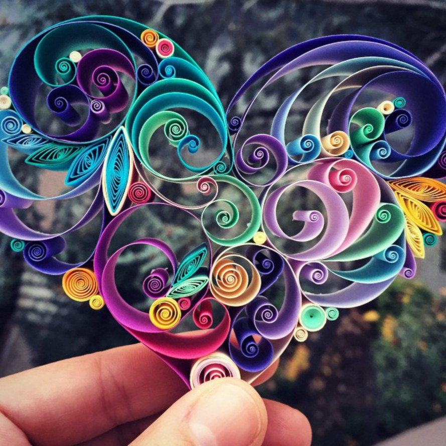 Swirl Paper Art Quilling Sena Runa Ears Inhabitat Green Design Innovation Architecture Green Building