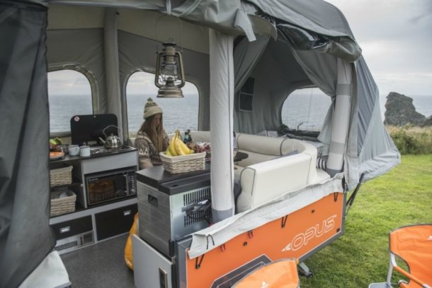 Air Opus Pop-Up Camper, pop up campers, off-road Opus campers, opus campers, pop up campers, pop up trailers, camping trailers, off grid camping, Air Pole Technology, inflatable campers, off grid living, on the road campers, inflatable tents, camping gear, self-inflating campers,
