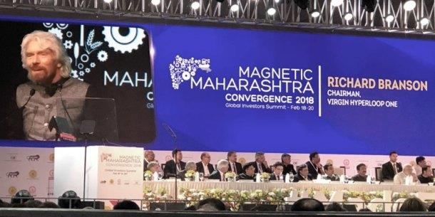 Richard Branson, Virgin Hyperloop One, Maharashtra, signing, conference, hyperloop