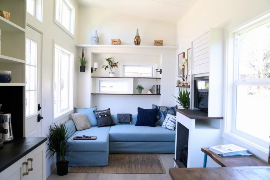 Handcrafted Movement's Coastal Craftsman tiny house is big ... on House Interior Ideas  id=72527