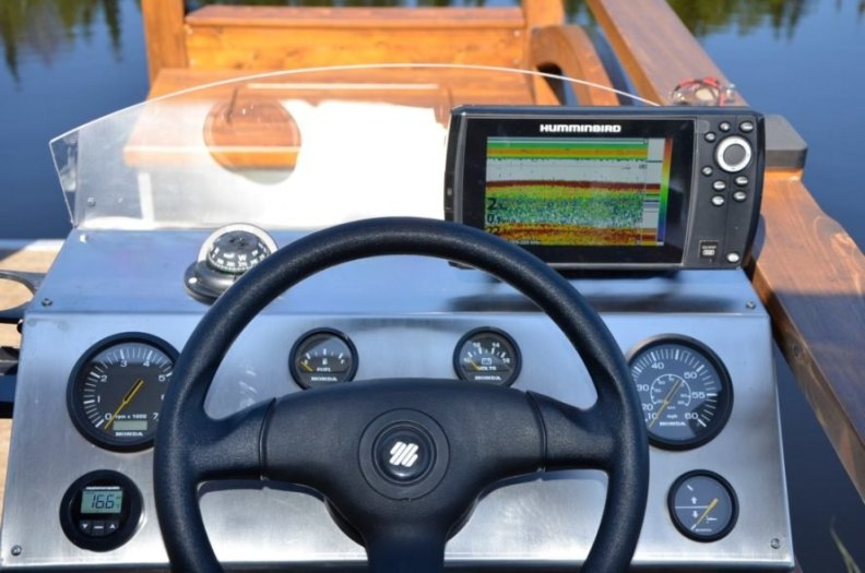 a steering wheel with sonar device