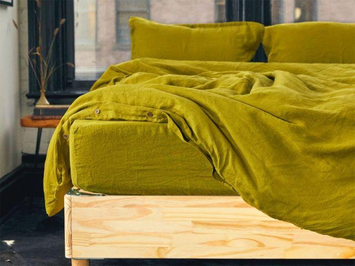 brassy green bedding