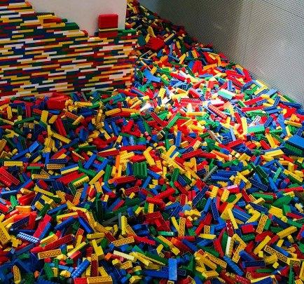 LEGO brick pile ~ photo by Edward Main