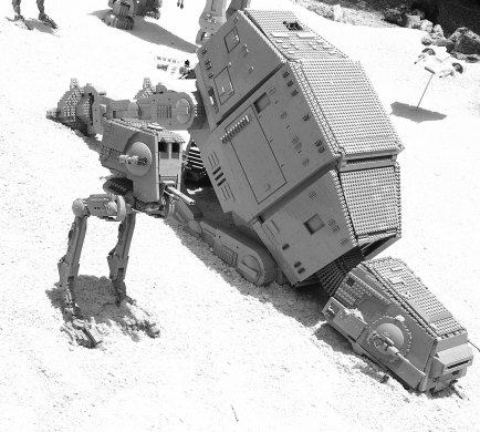 LEGO ATAT down ~ photo by Edward Main