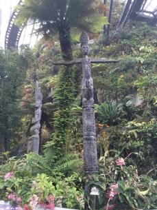 Cloud Forest Totem poles