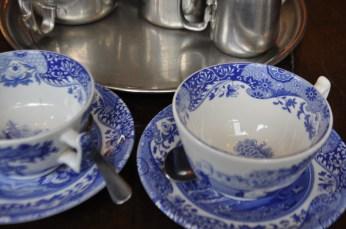 Cups ready for tea