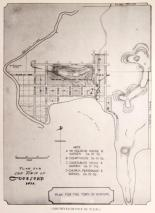 Plan for the Town of Gosford 1839. Source: Gosford District Historical Research Association.
