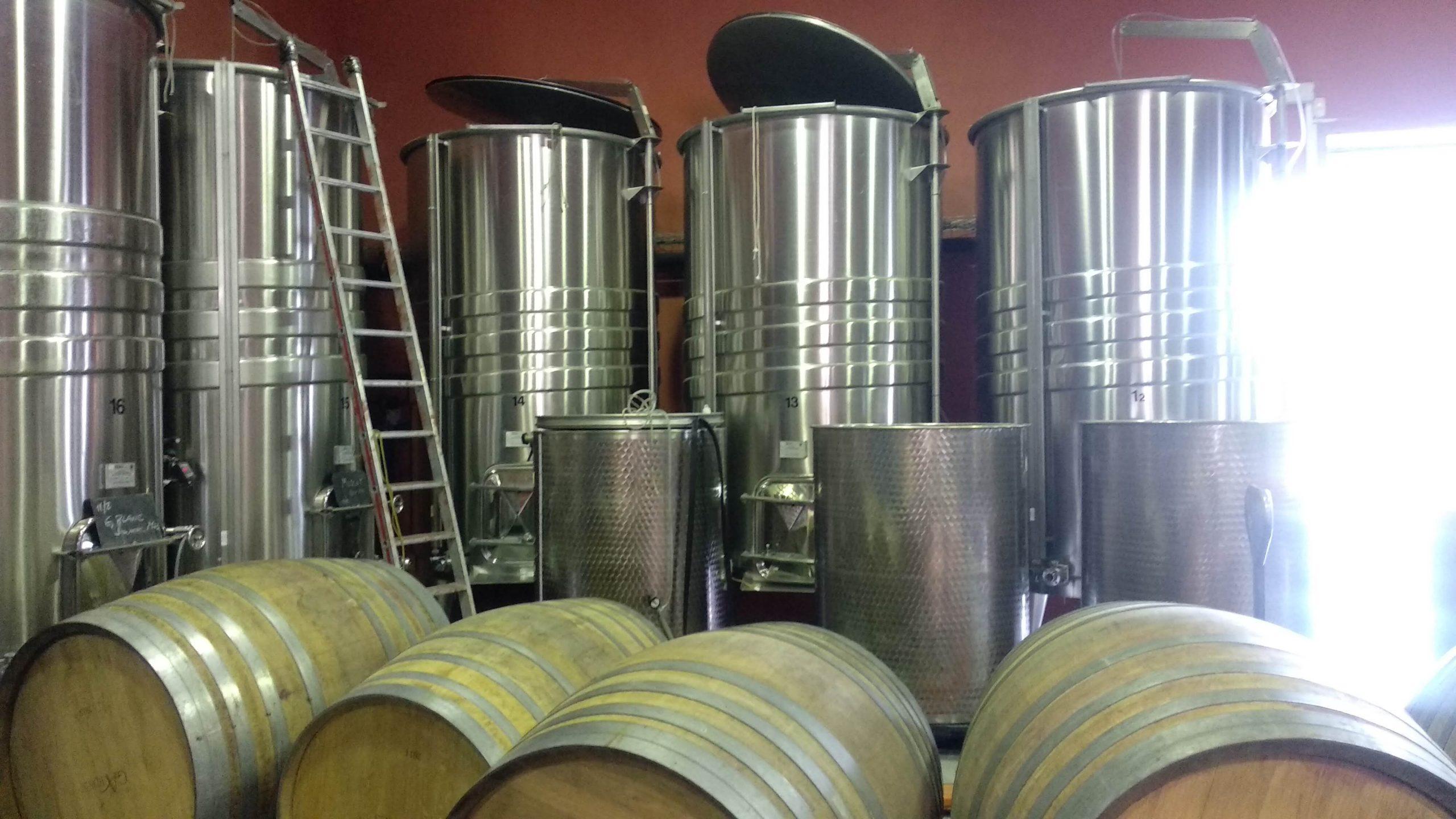 Opslag van wijnen Domaine Gardiés