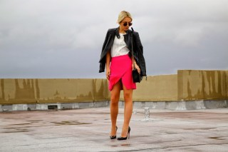 Street Style, Pink A line Skirt