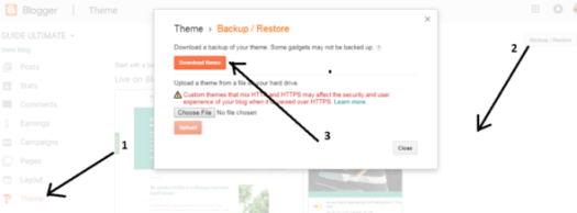 How to take Backup of Blogspot Blog Step by Step Guide