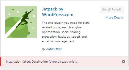 Fix Destination folder already exists