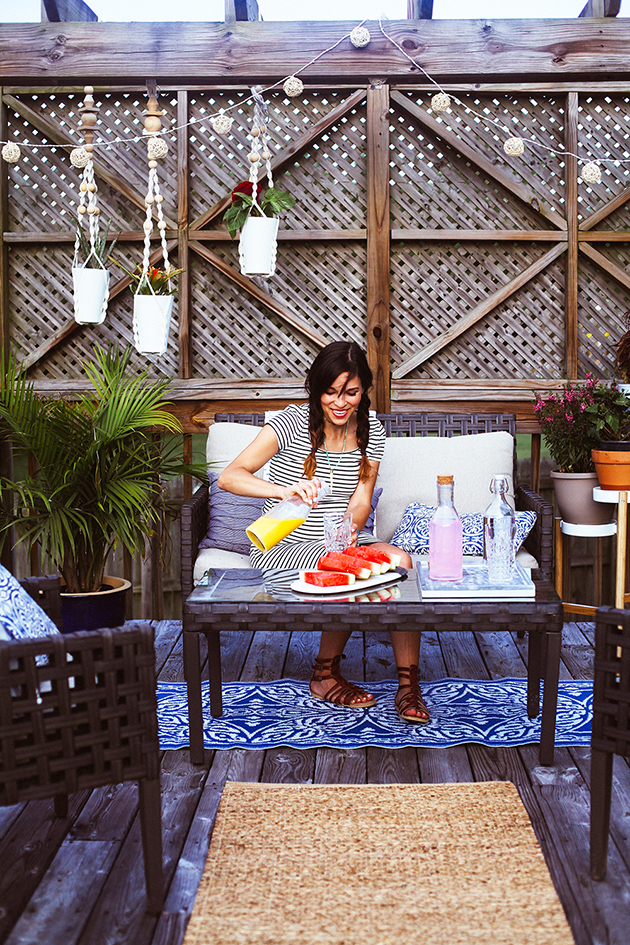 A budget friendly patio makeover | In Honor Of Design on Patio Makeovers On A Budget id=14093