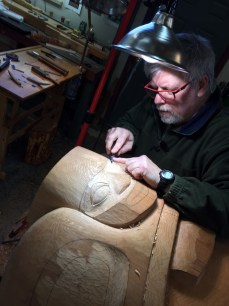 Jeff carving totem