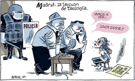 La visita del Papa según Manel Fontdevila