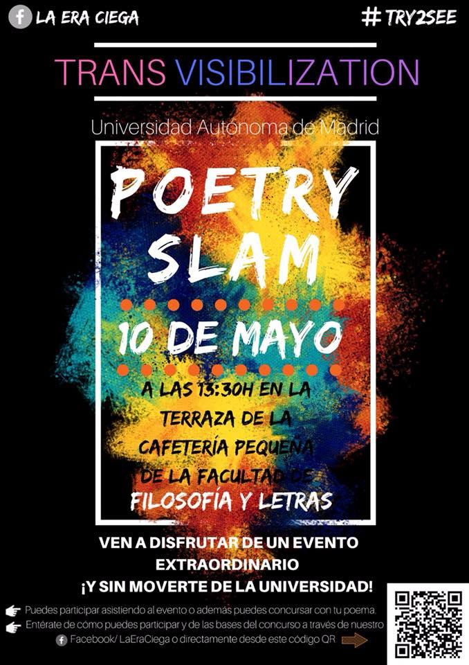 Poetry Slam sobre Trans-visibilización el 10 de mayo en UAM