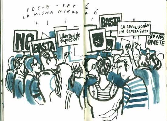 El 15M en la Puerta del Sol de Madrid según Enrique Flores