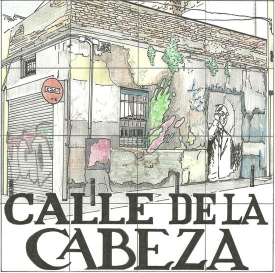 Placa de la calle Cabeza, por Diana Larrea