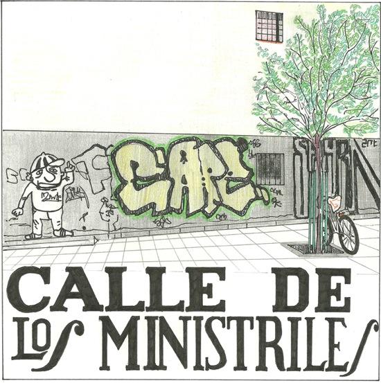 Placa de la calle Ministriles, por Diana Larrea