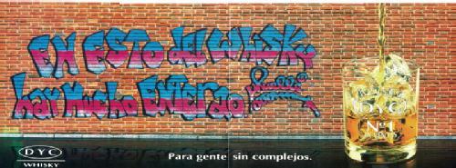 Graffiti de Muelle en anuncio de DYC