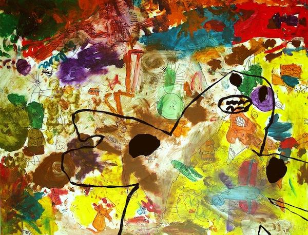 Pintura de un niño para el proyecto de Dave DeVries