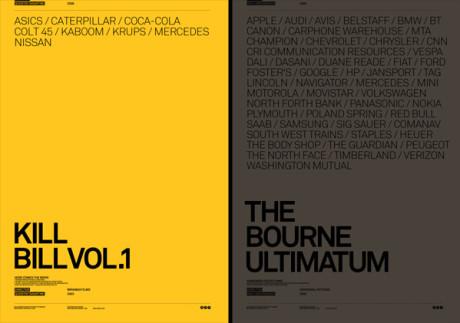 Posters de Kill Bill y Bourne Ultimatum por Atrepo4