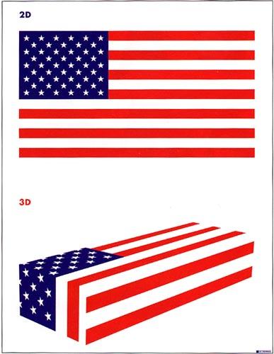 Cartel 2D-3D de Lex Drewinski