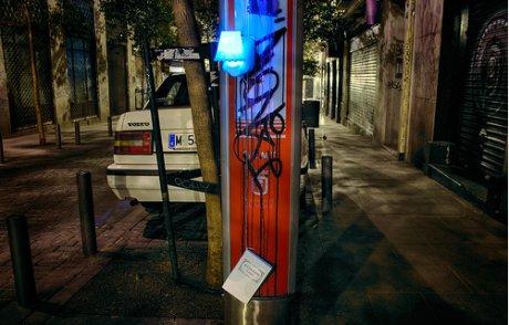 Obra de Luz Interruptus en Madrid