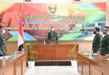 Danrem 082/ CPYJ Mengikuti Rapim TNI AD 2021 Secara Virtual