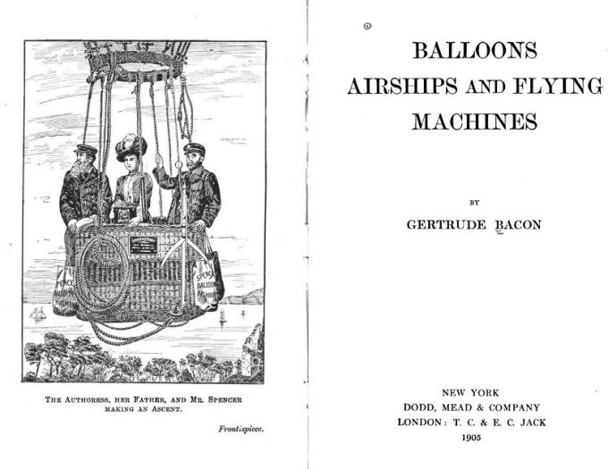 Two pages from public domain book Balloons Airships and Flying Machines