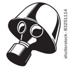 Clip art of gas mask
