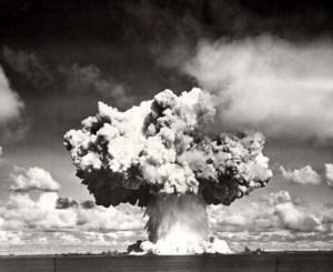 Stock photo of Bikini atoll nuclear explosion