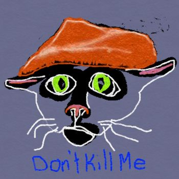 Digital drawing of cat wearing beret