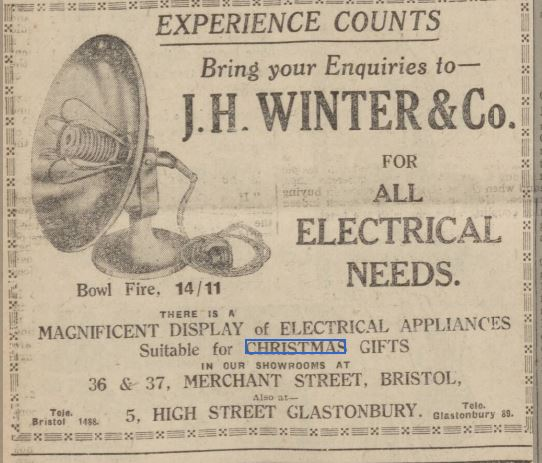 Newspaper clipping of dangerous 1930s small appliance