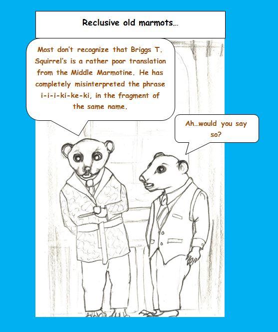 Cartoon of bachelor marmots