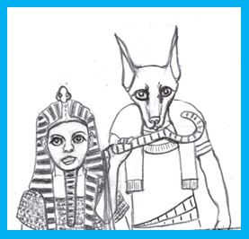 Pharoah and Anubis