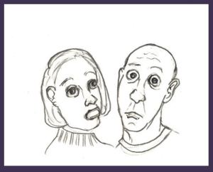 Assorted Opinions cartoon of bewildered couple