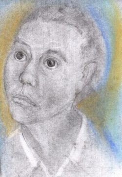 Pastel drawing of Martiniquaise feeling fearful and resigned