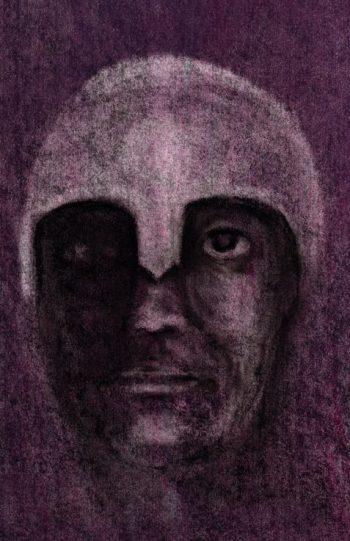 The German Spy Hades in ancient helmet art for poem Men (first)