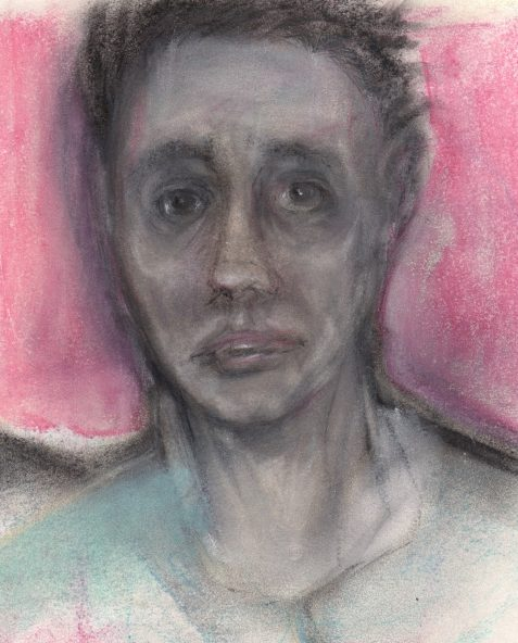 Pastel drawing of comsumptive's suffering face