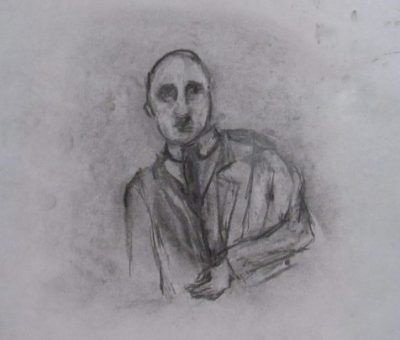 Calmacott's Brother a pencil sketch of an Edwardian man art for poem Calmacott's Brother part two