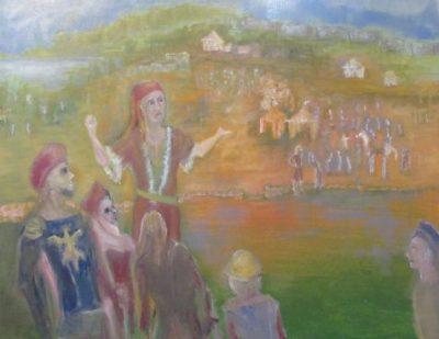 The Impresario his spiel for fairgoers art for part seven
