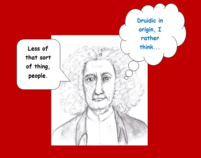 Christmas slide of Cotton Mather disapproving