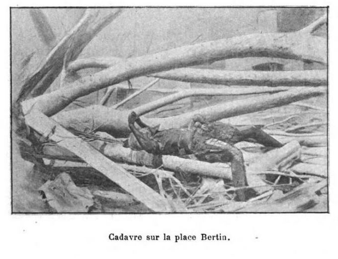 1902 photo of corpse at Saint-Pierre