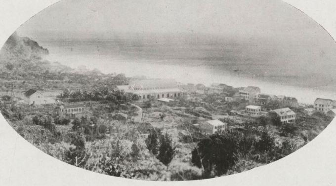 1929 photo of Saint-Pierre partly rebuilt