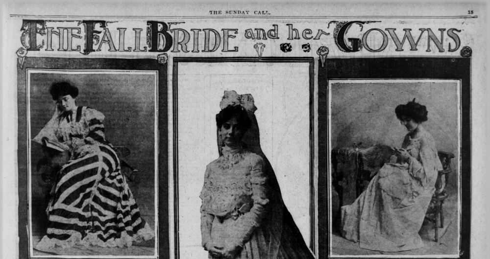 1902 newspaper clipping bridal styles